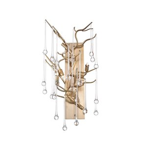 CWI Lighting Anita 3 Light Wall Sconce - Gold Leaf finish - 9-in x 18-in x 11-in