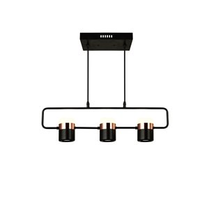 CWI Lighting Moxie LED Pool Table Light - Black Finish - 7-in x 26-in