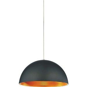 CWI Lighting Modest 1 Light Down Pendant - Black finish - 16-in