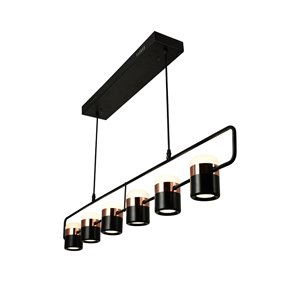 CWI Lighting Moxie LED Pool Table Light - Black Finish - 7-in x 45-in