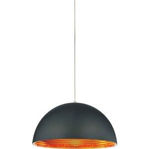 CWI Lighting Modest 1 Light Down Mini Pendant - Black finish - 12-in