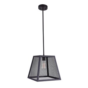 CWI Lighting Macleay 1 Light Down Mini Pendant - Black finish - 12-in