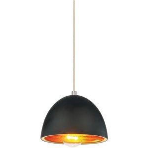 CWI Lighting Modest 1 Light Down Mini Pendant - Black finish - 7-in