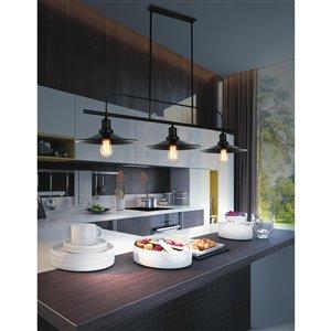 CWI Lighting Brave 3 Light Pool Table Light - Black finish - 46-in x 60-in