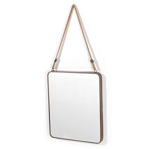 Gild Design House Ian Mirror - Grey - 23.6-in x 20-in