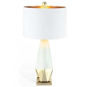 Gild Design House Callie Table Lamp - White and Gold - 25-in