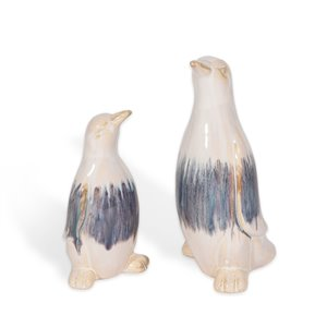 Gild Design House Pierre Charming Ceramic Penguins - 10-in