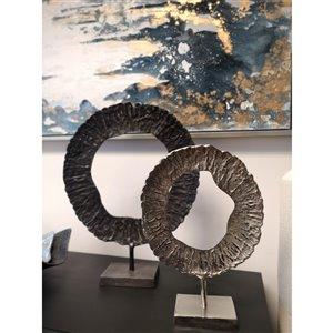 Gild Design House Roan Small decorative sculpture, Nickel, 17-in x 12-in