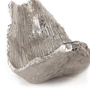 Gild Design House Zavion Decorative solid metal bowl - silver - 11-in x 19-in