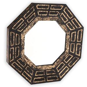 Gild Design House Aztec Mirror - Black - 30-in x 30-in