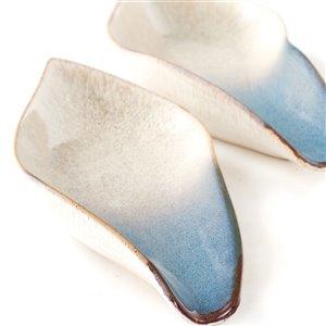 Gild Design House Ossian Ceramic Tray   Silver - Set of 2