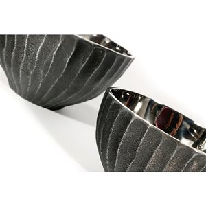 Gild Design House Melbina Decoratives Bowls - Nickel - Set of 2