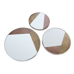Gild Design House Alexander Mirrors - Bronze - 24-in x 24-in - Set of 3