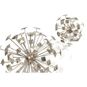 Gild Design House Koru Decorative Sphere - Silver - 12-in - Set of 3