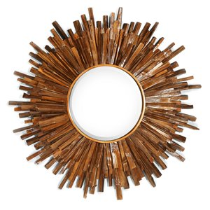 Gild Design House Juniper Mirror - Antique Bronze - 36-in x 36-in