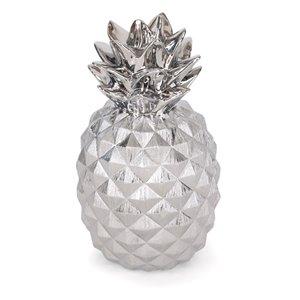 Gild Design House Priscella Ceramic Pineapple - Silver - 18-in