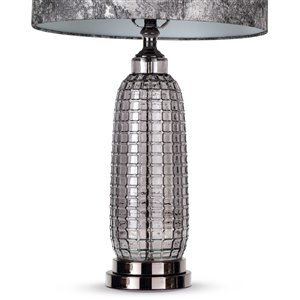 Gild Design House Lars Table Lamp - Silver and Grey - 28-in