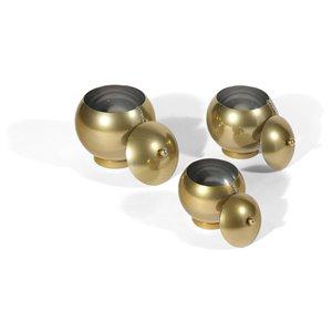 Gild Design House Eseld Decorative Urn - Gold - Set of 3