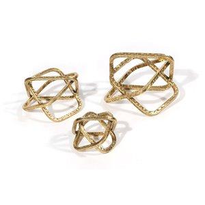 Gild Design House Graxi Dercorative Sculpture - Gold - Set of 3