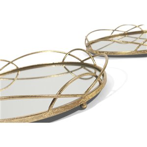 Gild Design House Ans Trays - Gold and mirrored - Set of 2