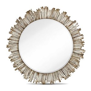 Gild Design House Diya Mirror - White - 42-in x 42-in