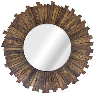Gild Design House Kavya Mirror - Natural Brown - 35-in x 35-in