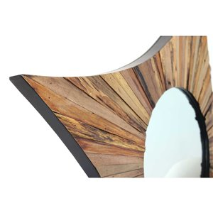Gild Design House Kubra Mirror - Natural Brown - 36-in x 36-in
