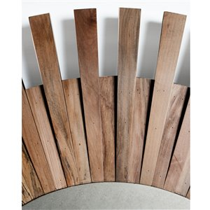 Gild Design House Leonie Mirror - Natural Brown - 48-in x 48-in