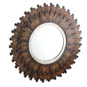Gild Design House Emine Mirror - Natural Brown -  40-in x 40-in