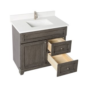 St. Lawrence Cabinets Richmond Vanity with Carrera Quartz ...