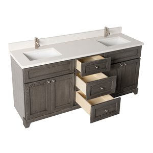 St. Lawrence Cabinets Richmond Vanity with Dover White ...