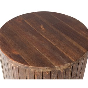 Grapevine Michael Round Recycled Wood Stool Plant Stand