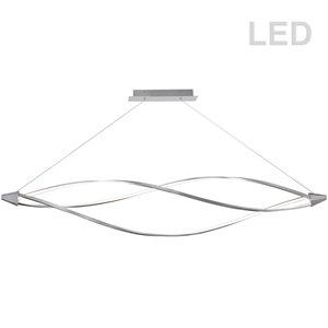 Dainolite Seli Pendant Light - 3-Light - 72-in x 32-in - Satin Chrome