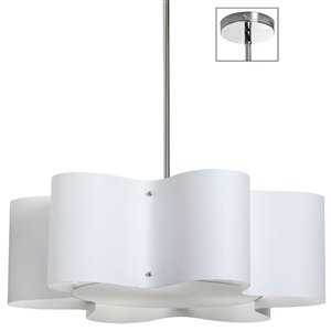 Dainolite Zulu Pendant Light - 3-Light - 24-in x 8.5-in - White