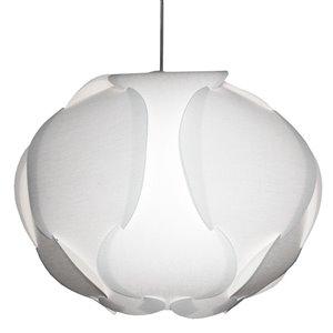 Dainolite Globus Pendant Light - 3-Light - 22-in x 15-in - White