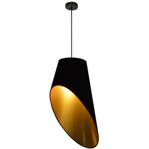 Dainolite Slanted Drum Pendant Light - 1-Light - 16-in x 24-in - Gold