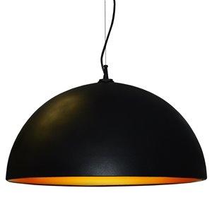 Dainolite Signature Pendant Light - 3-Light - 31-in x 16-in - Black