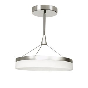Dainolite Kepler Pendant Light - 1-Light - 18-in x 14-in - Polished Chrome