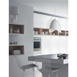 Dainolite Myra Pendant Light - 1-Light - 15-in x 15-in - White