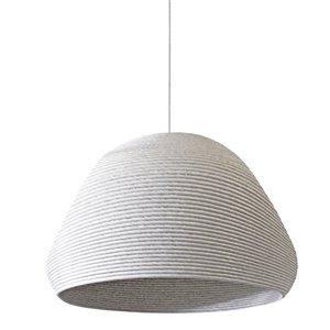 Dainolite Mashe Pendant Light - 1-Light - 15-in x 13.75-in - White