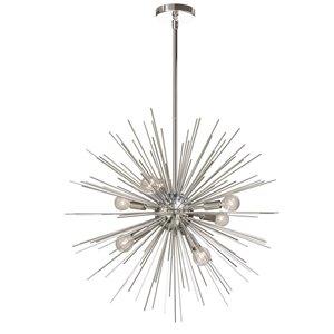 Dainolite Vega Pendant Light - 8-Light - 24-in x 24-in - Silver