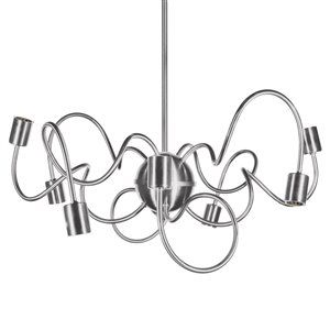 Dainolite Waitsfield Pendant Light - 8-Light - 25-in x 10-in - Satin Chrome
