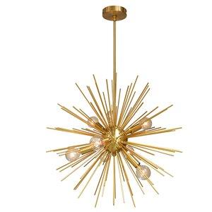 Dainolite Vega Pendant Light - 8-Light - 24-in x 24-in - Gold