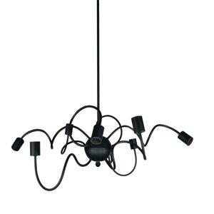 Dainolite Waitsfield Pendant Light - 8-Light - 32-in x 12-in - Matte Black