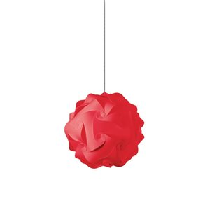 Dainolite Globus Pendant Light - 1-Light - 9-in x 9-in - Red