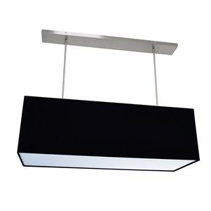 Dainolite Oversized Drum Pendant Light - 4-Light - 38-in x 12-in - Black