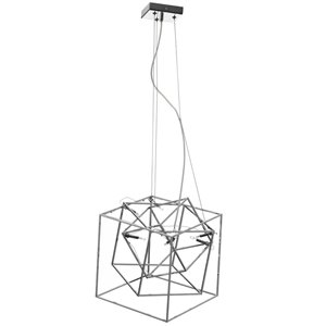 Dainolite Cubo Pendant Light - 6-Light - 16-in x 15-in - Polished Chrome