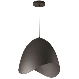 Dainolite Myra Pendant Light - 1-Light - 15-in x 15-in - Black