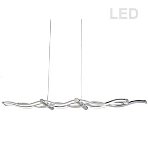 Dainolite Florence Pendant Light - 1-Light - 40-in x 3-in - Polished Chrome