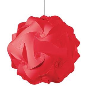 Dainolite Globus Pendant Light - 3-Light - 26-in x 26-in - Red